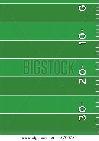 Football Field Markings Vector