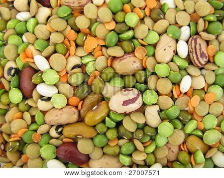 Macrobiotic food seeds and legumes
