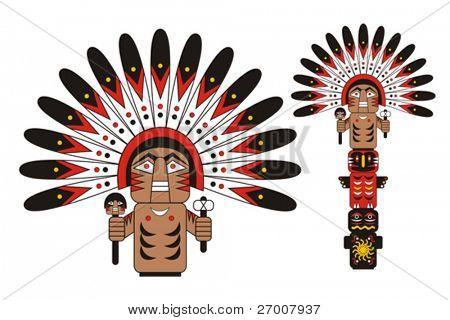 Chefe índio de totem