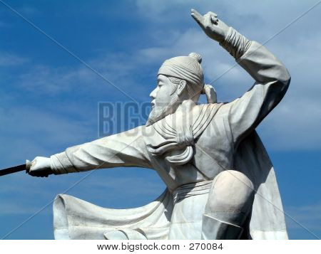 Statue Of Chinese Kungfu