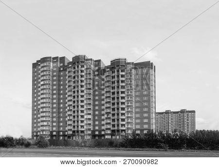 Modern Manystoried Residential Buildings In