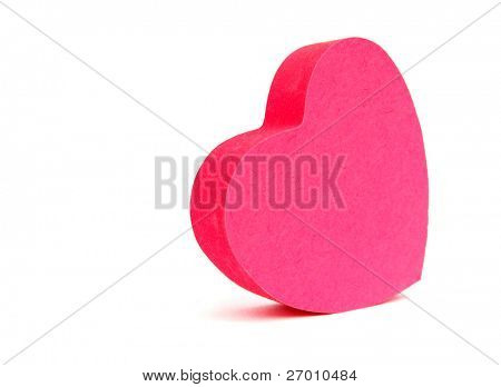 Pink hearts sticky notes