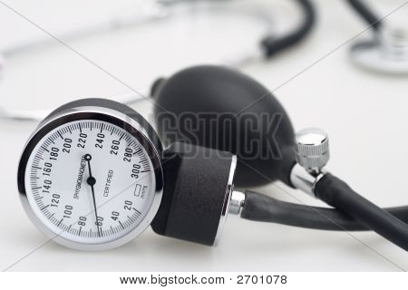 Sphygmomanometer And Stethoscope