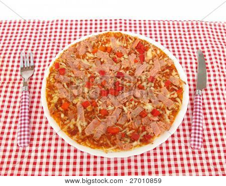 Pizza on table