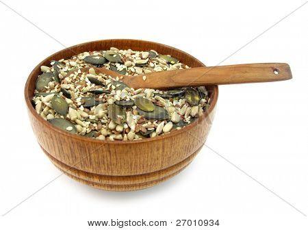 Flax, pumpkin, sesame and sunflower seeds healthy mix