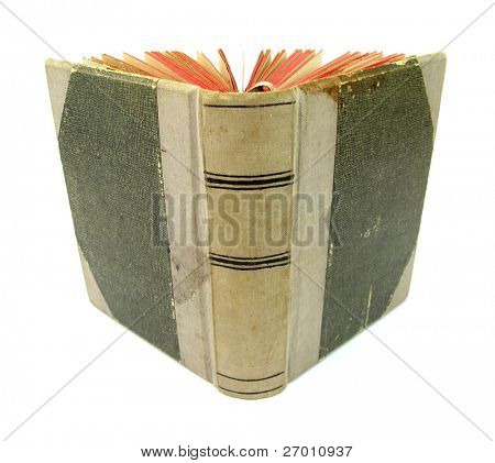old book with red pages