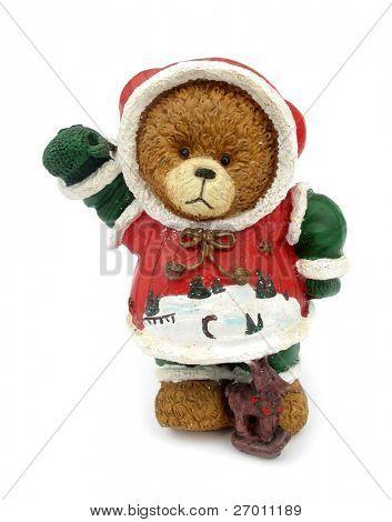 Teddy bear christmas decoration figurine