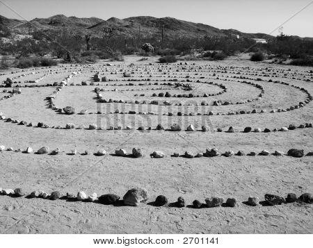 Zen Rock Garden In The Desert