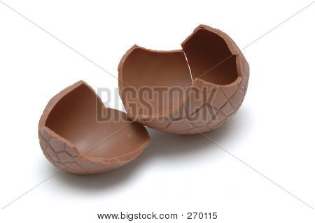 Chocolate Egg (cracked)