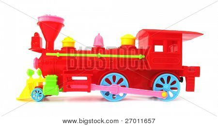 red train locomotive toy