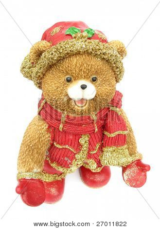 Teddy bear christmas figurine decoration