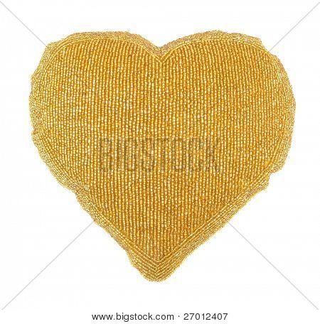 Kissen golden Heart shaped Heimtextilien