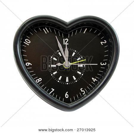 Clock black heart