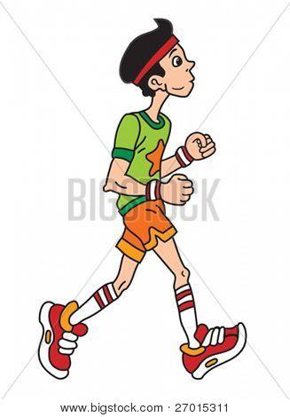 男生跑步背影的头像