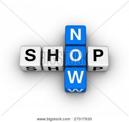 rótulo de agora de loja para loja online