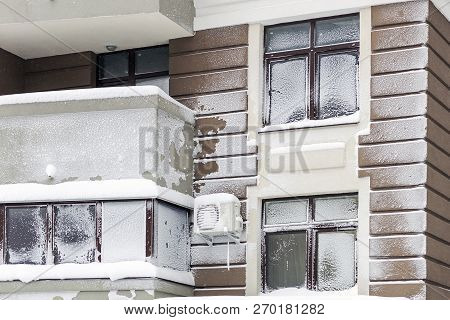 Wall With Windows Of Modern