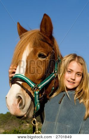 Child With Pet Horse