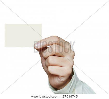 Cartão de crédito de exploração de mão