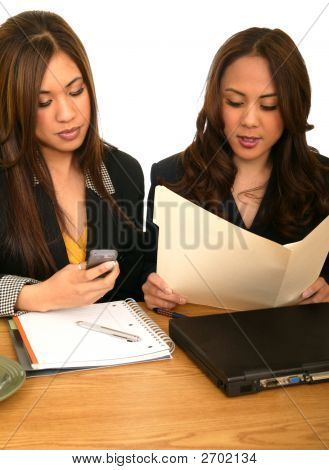 Women Business Team During Busy Hour