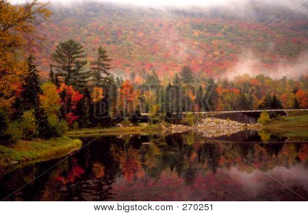 New Hampshire Lake Autumn