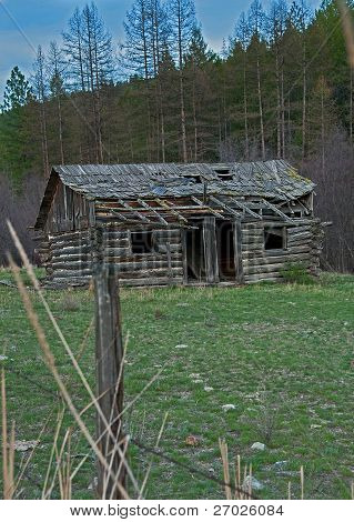 Old Abandoned Homestead Cabin
