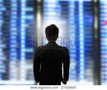 businessman looking forward