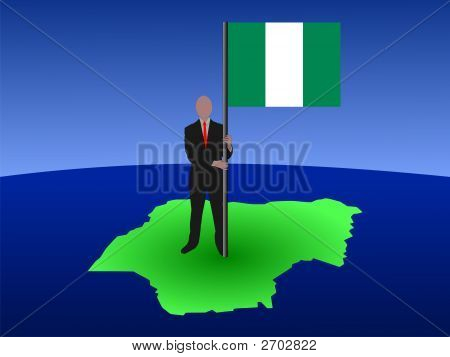 Man With Nigerian Flag