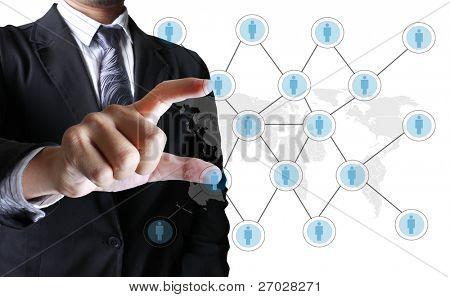 soziale Netzwerk-Struktur