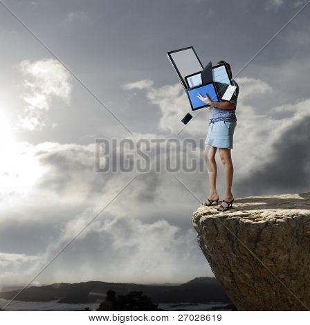 Technology throw down a cliff