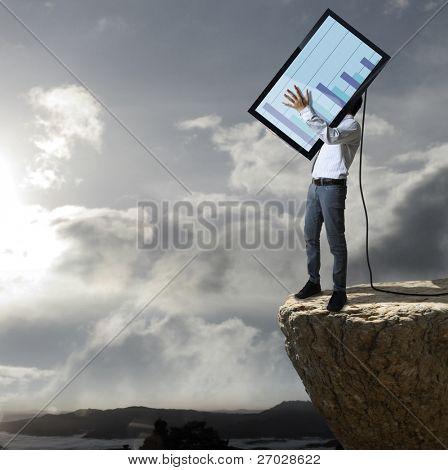 Technology tv throw down a cliff