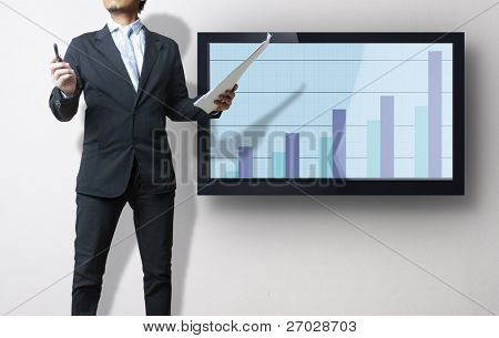 Crecimiento financiero de muestra de hombre de negocios