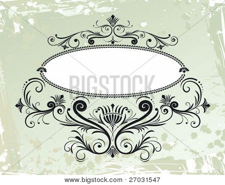 flourishes decoration, oval border