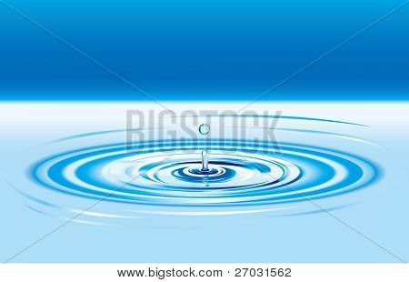 drop ripples in the water