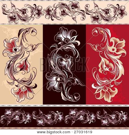 decorative flourishes element