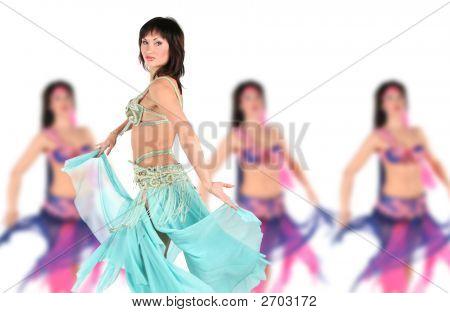 Bellydancer With Group Girls