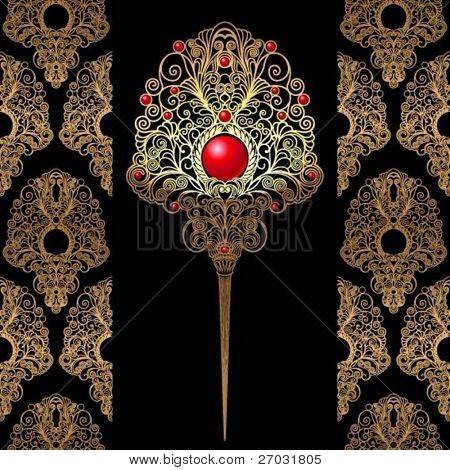 ornate decorative feather