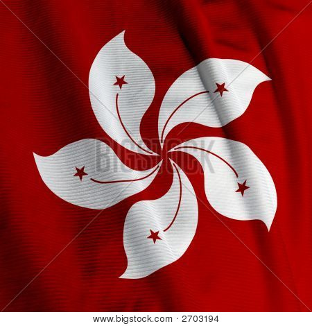 Hong Kong Flagge Closeup