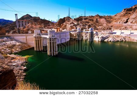 Hoover dam.Arizona and Nevada, USA