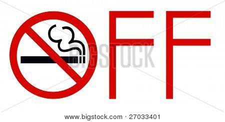 Symbol of No Smoking Zone Sign isolated on White