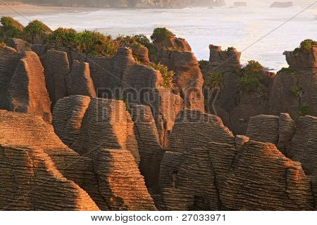 landscape of pancake rock grand canyon of New Zealand