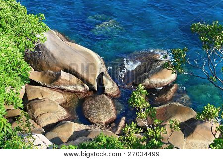 Similan Rock on The Beach,Paradise island located at south of Thailand