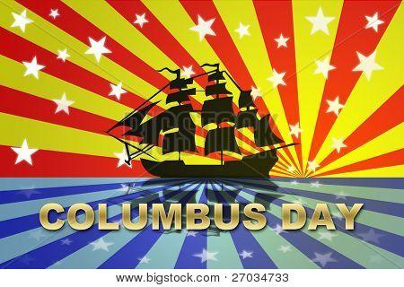 Christopher Columbus Day Holiday, celebration for USA exploration.
