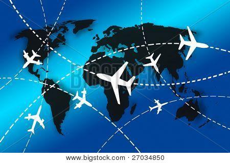 planos de rutas de todo el mundo por concepto de viajes