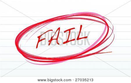 dejar por escrito en un diseño de ilustración de papel de bloc de notas