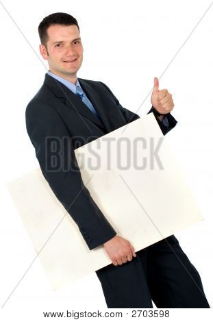 Business Man With Project
