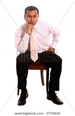 Business Mann sitzend