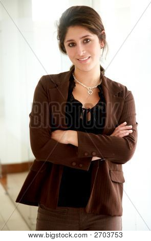 Business Woman In An Office