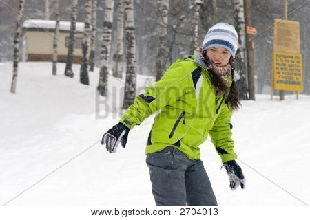 Health Lifestyle Image Of Young  Beautiful Snowboarder Girl