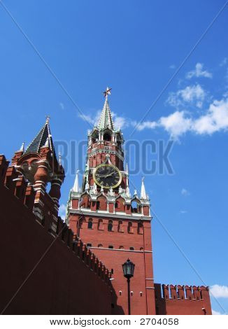The Kremlin. The Clock On The Tower.