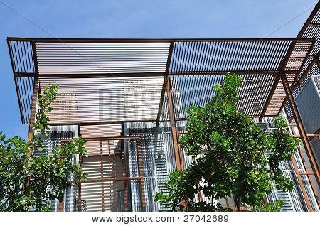Edificio marco de construcción de acero